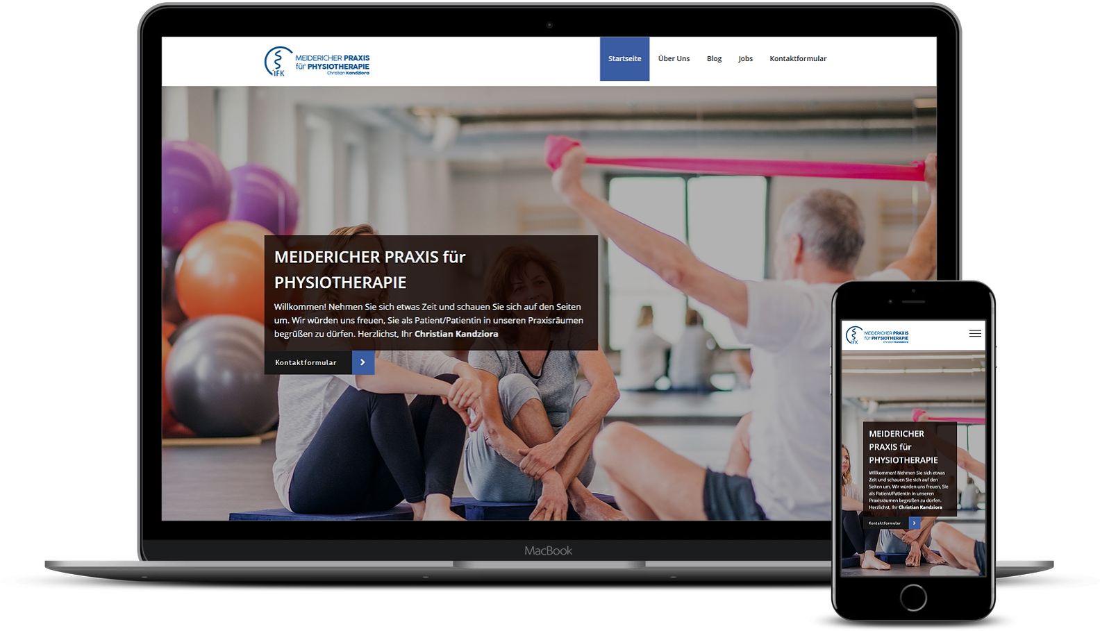 Homepage für Physiotherapeuten