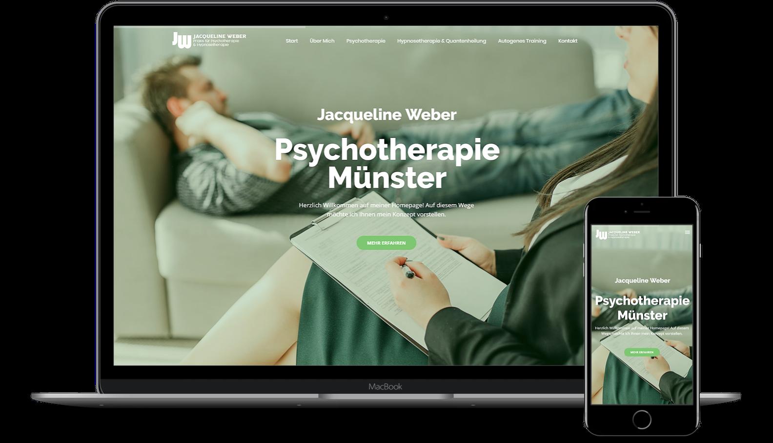 Jacqueline Weber - Webdesign by Komomedia
