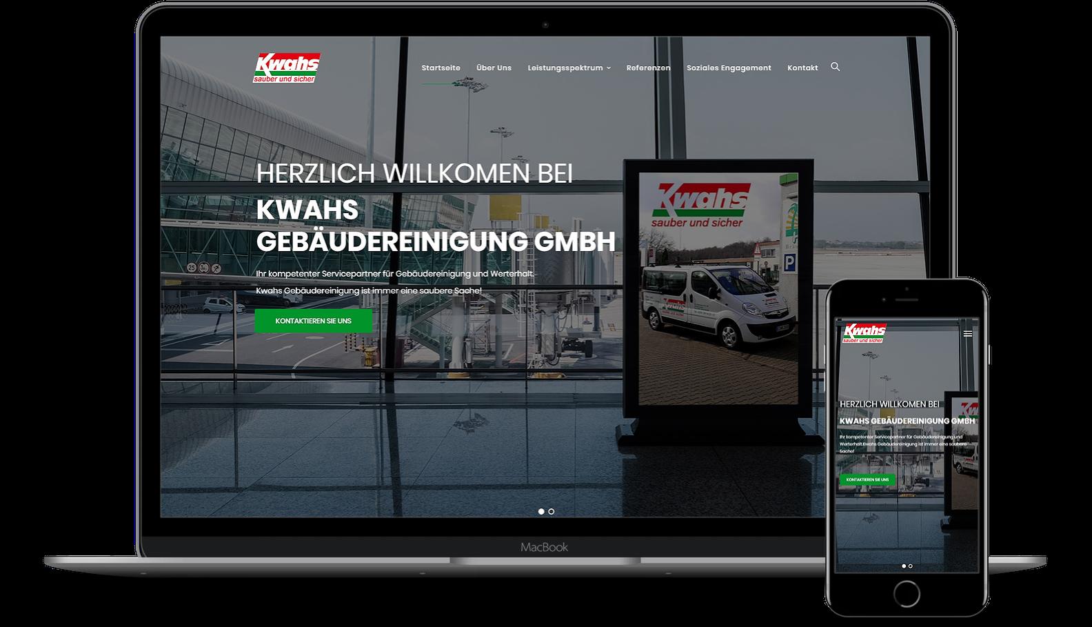 Webseite für Gebäudereinigung