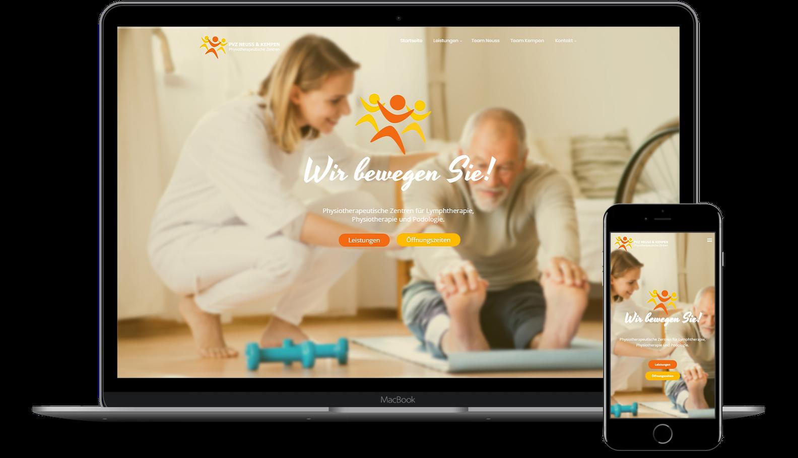 Website für Physiotherapeut erstellen